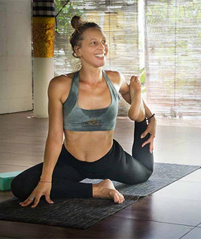 Julie lead teacher at Yoga Breeze Bali