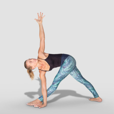 Parivrtta Trikonasana or Revolved Triangle pose