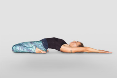 supta virasana or reclined hero pose