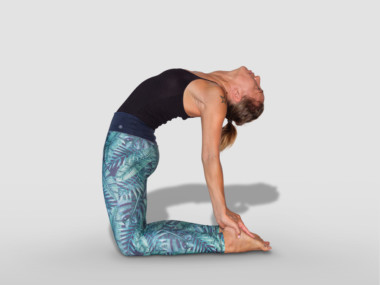 ustrasana or camel pose