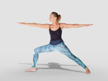 Virabhadrasana II or Warrior 2 pose